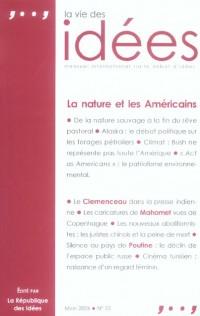 La Vie des Idées, N° 10, Mars 2006 : La nature et les Américains