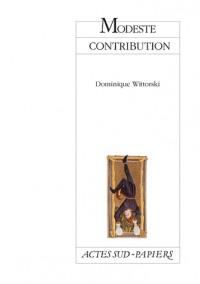 Modeste contribution