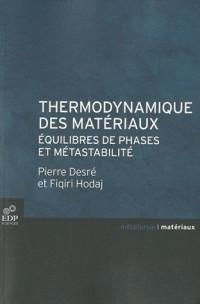 Thermodynamique des materiaux