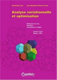 Analyse variationnelle et optimisation
