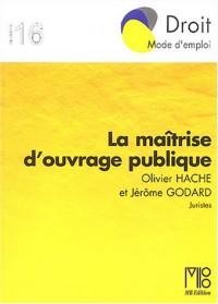 La Maîtrise d'ouvrage publique