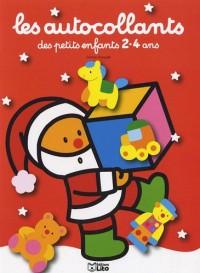 Autocollants des Petits Enfants 2-4 Ans : Pere Noël Rouge