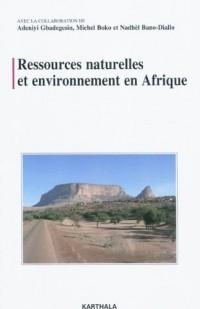 Ressources naturelles et environnement en Afrique