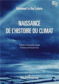 Naissance de l'histoire du climat