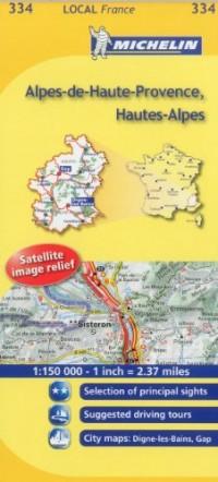 Michelin Map France: Alpes-de-haute-provence, Hautes-alpes 334