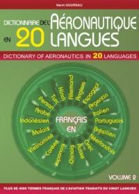 Dictionnaire de l'Aéronautique en 20 Langues - Français