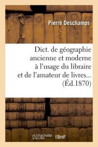 Dict  du Libraire Amateur de Livres  ed 1870