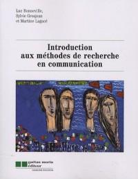 Introduction aux méthodes de recherche en communication