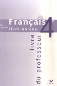 Français 4e : Mots en voyage, Livre du professeur