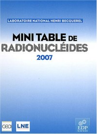 Mini table de radionucléides